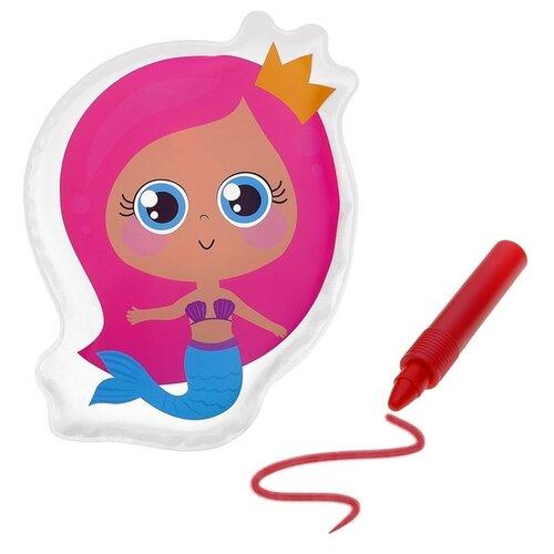 Купить Набор для ванной Крошка Я Русалочка + водный карандаш (3045303) красный/розовый, Игрушки для ванной