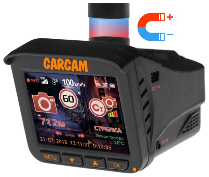 Видеорегистратор с радар-детектором CARCAM COMBO 5 LITE (без карты памяти), GPS, ГЛОНАСС черный