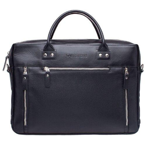 Кожаная деловая сумка для ноутбука Barossa Black Сумка МУЖ. Barossa чер