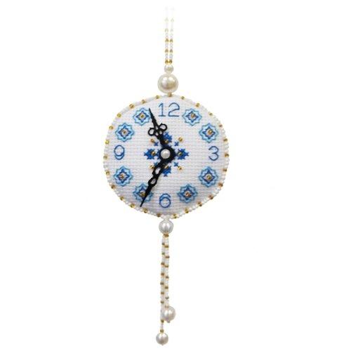 ZENGANA Набор для вышивания бисером и нитками Часы Розы 6.5 х 5 х 6.5 (М-123)