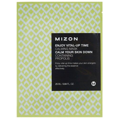 Mizon Enjoy Vital-Up Time Calming Mask успокаивающая тканевая маска с прополисом, 25 мл успокаивающая маска лаванда lavander calming mask 50 мл klapp aroma selection