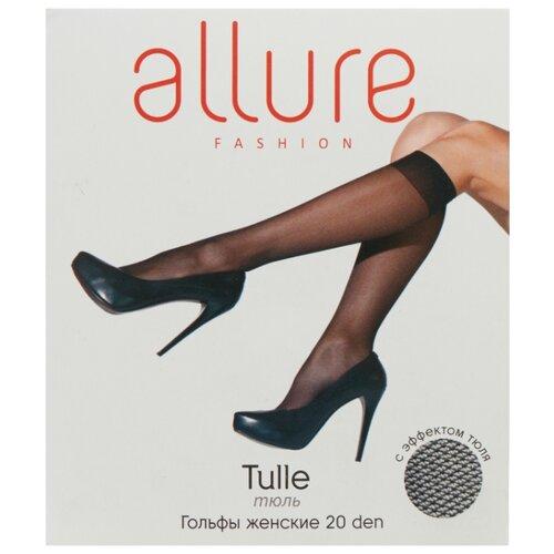 Капроновые гольфы ALLURE Tulle 20 den, размер универсальный, nero