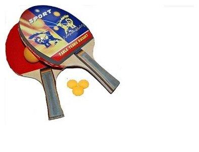 Набор для настольного тенниса. 2 ракетки, 4 шарика. Пин Понг.