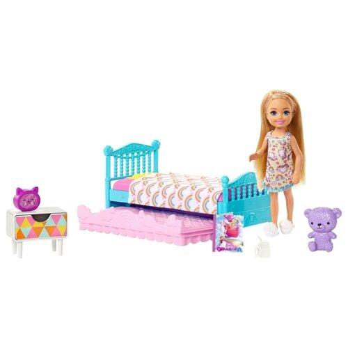 Купить Кукла Barbie Челси и набор мебели спальня, 12 см, FXG83, Куклы и пупсы