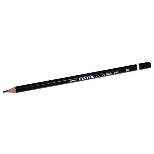 Купить Lyra Карандаш чернографитный Art design 2H (L1110112), Карандаши
