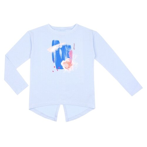 Лонгслив Апрель размер 128, голубой комбинезон апрель
