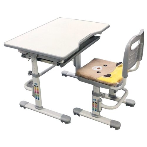 Купить Комплект Rifforma стол + стул SET-10 80x55 см светло-серый, Парты и столы