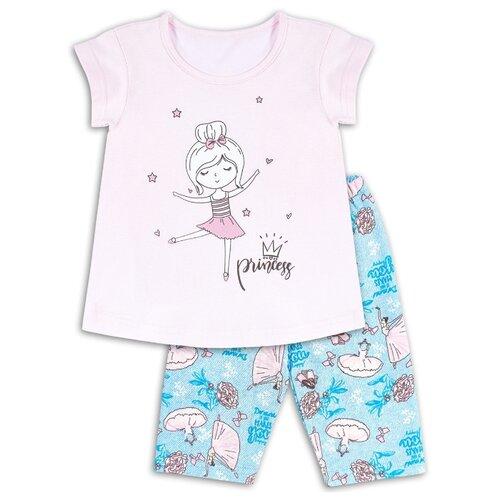 Пижама Веселый Малыш размер 134, розовый/синий пижама веселый малыш размер 104 розовый