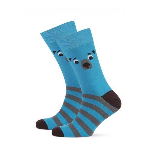 Фото - Носки St. Friday Мишка мед, размер 34-37, синий носки st friday цой жив гуф умер размер 34 37 черный