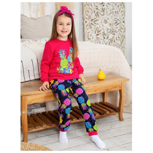 Купить Пижама Веселый Малыш размер 134, красный/черный, Домашняя одежда