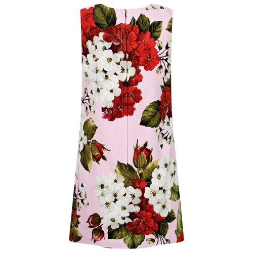 Платье DOLCE & GABBANA размер 116, белый/розовый/цветочный принт