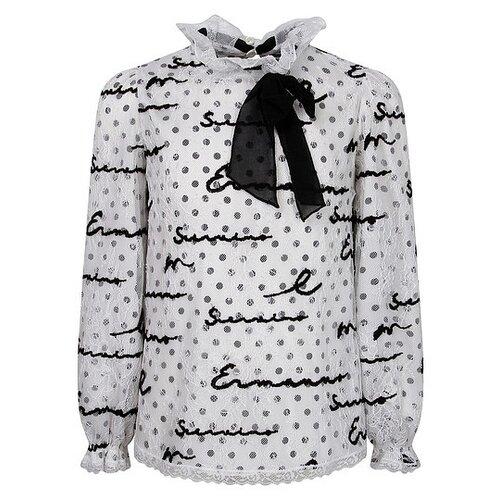Купить Блузка Ermanno Scervino размер 164, белый/черный, Рубашки и блузы
