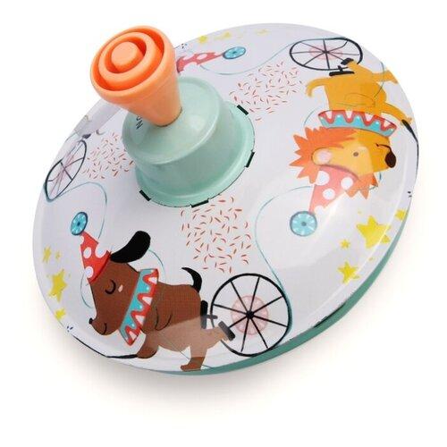 Юла Happy Baby Цирк (331852) белый/оранжевый/голубой игрушка chuc юла