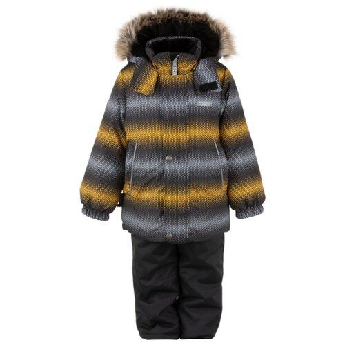 Фото - Комплект с полукомбинезоном KERRY Ron K20420D размер 116, оранжевый/серый куртка kerry wolfie k19439 a размер 116 9890 серый