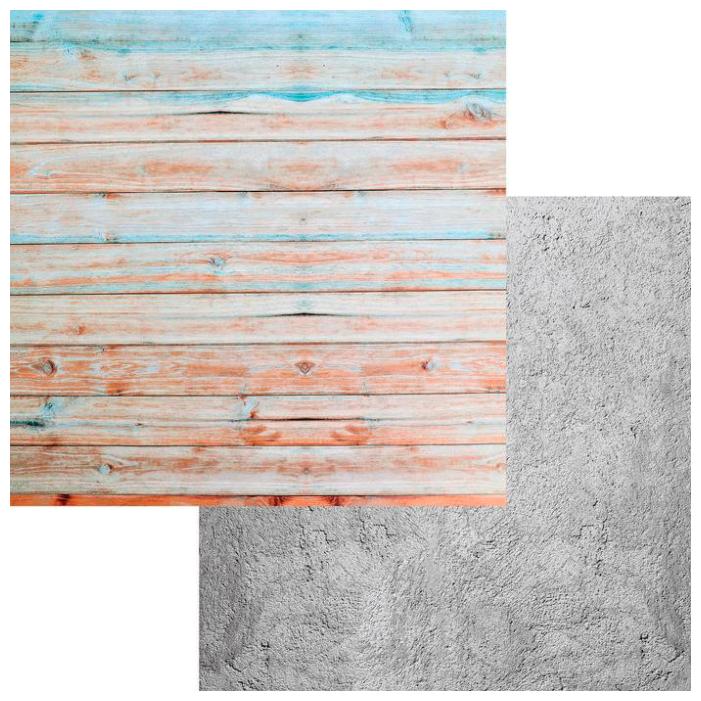 Фотофон Арт Узор Цветные доски - Бетон серый/коричневый фото 1