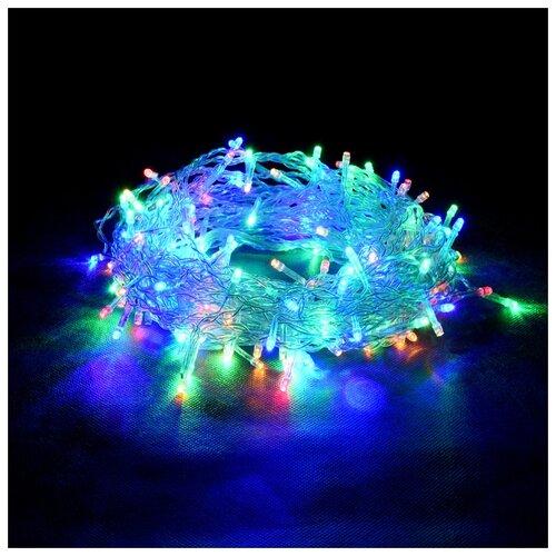 Гирлянда Vegas Занавес 55076/77/78 (150 х 150 см), 156 ламп, разноцветный/прозрачный провод недорого