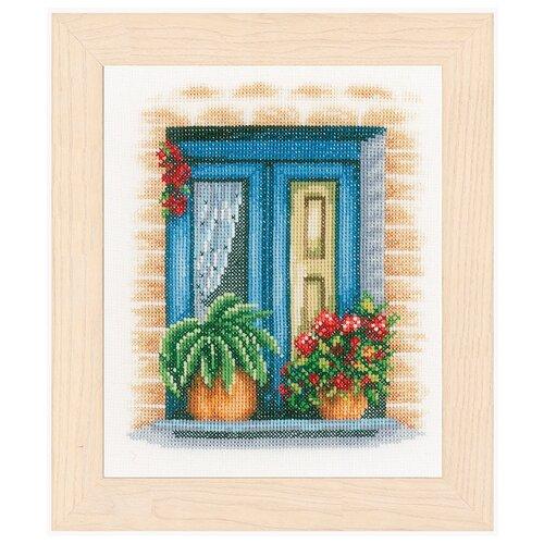 Купить Lanarte Набор для вышивания Blue window 18 х 21 см (PN-0167121), Наборы для вышивания