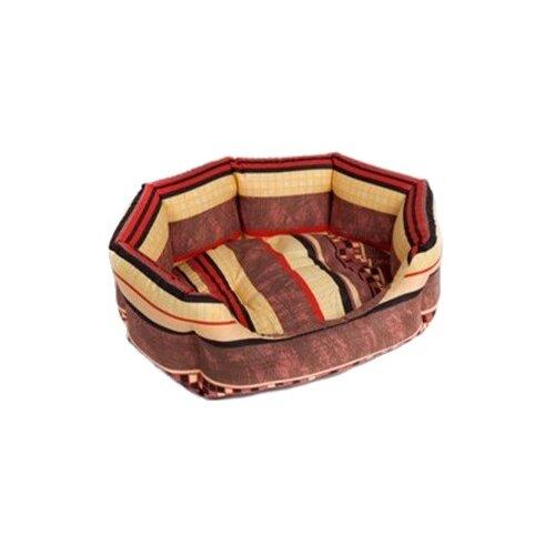 Лежак для собак и кошек Зоо Фортуна Браун №3 70х56х18 см коричневый/бежевый