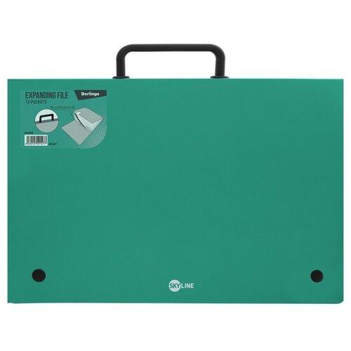 Купить Berlingo Папка-портфель 13 отделений Skyline А4 зеленый, Файлы и папки