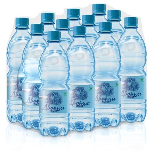 Вода питьевая Дворцы Люкс негазированная, пластик, 12 шт. по 0.6 л
