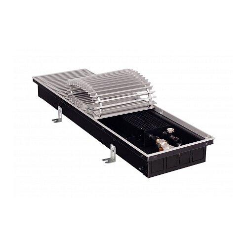 Водяной конвектор GEKON Eco UNA H11 L120 T23 (без клапана) черный/серебристый