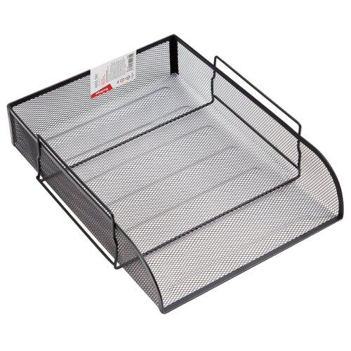 Купить Лоток горизонтальный для бумаги Berlingo Steel&Style BMs_41011/BMs_41012 черный, Лотки для бумаги