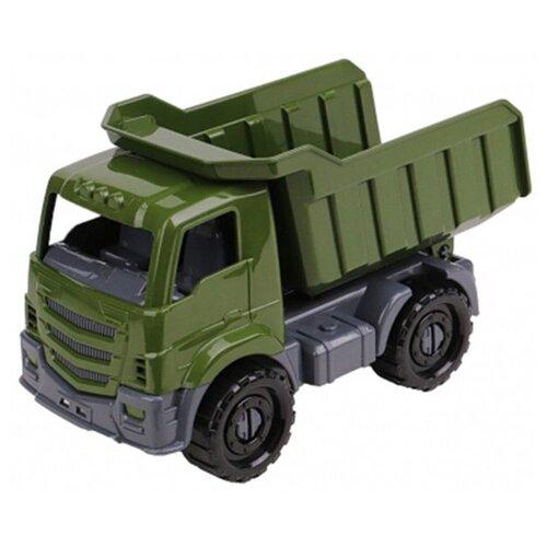 Купить Грузовик Рыжий кот Илья Самосвал военный (И-8238) 22 см зеленый, Машинки и техника