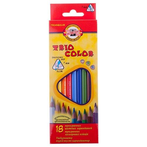 Купить KOH-I-NOOR Карандаши цветные Triocolor, 18 цветов (3133018004KS), Цветные карандаши