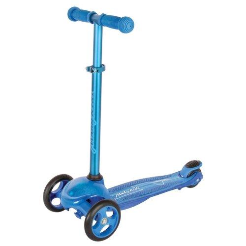 Детский кикборд Moby Kids 64963, синий кикборд moby kids junior rocket синий