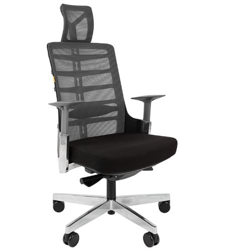 Компьютерное кресло Chairman Spinelly для руководителя, обивка: текстиль, цвет: черный/серый компьютерное кресло chairman 434n для руководителя обивка текстиль цвет вельвет черный