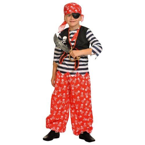 Купить Костюм КарнавалOFF Пират Роджер (5040), красный/черный/белый, размер 134-140, Карнавальные костюмы