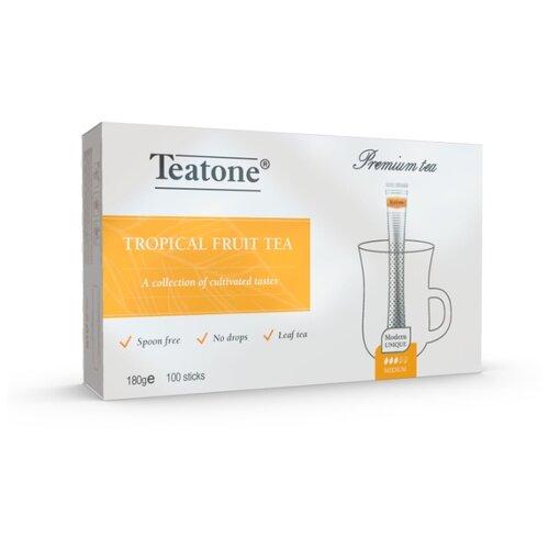 Чай черный Teatone с ароматом тропических фруктов в стиках, 100 шт. earl grey чёрный чай с ароматом бергамота teatone в стиках для разовой заварки 100шт 1 8г