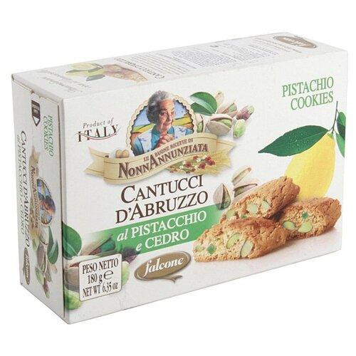 Печенье FALCONE Cantucci d'Abruzzo с фисташками и лимонной цедрой, 180 г