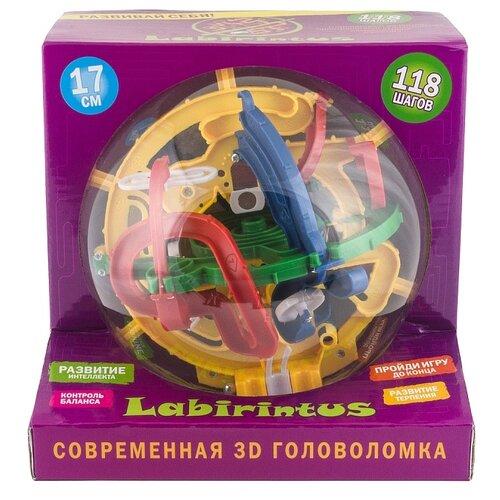 Купить Головоломка Лабиринтус 17 см 118 шагов (LB1701) разноцветный, Головоломки