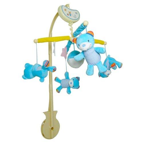 Купить Механический мобиль Biba Toys BM038 Мишки голубой, Мобили