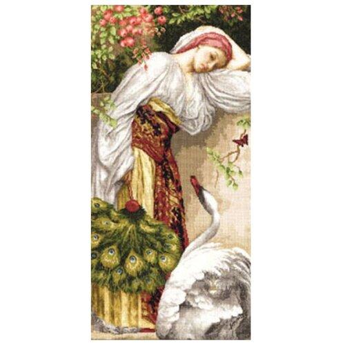 Фото - Золотое Руно Набор для вышивания Девушка с лебедем 53,2 х 25,5 см (ЧМ-008) набор для вышивания золотое руно гм 037 булгаковская осень