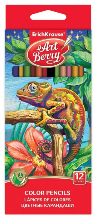 ErichKrause Цветные карандаши ArtBerry 12 цветов (32479)