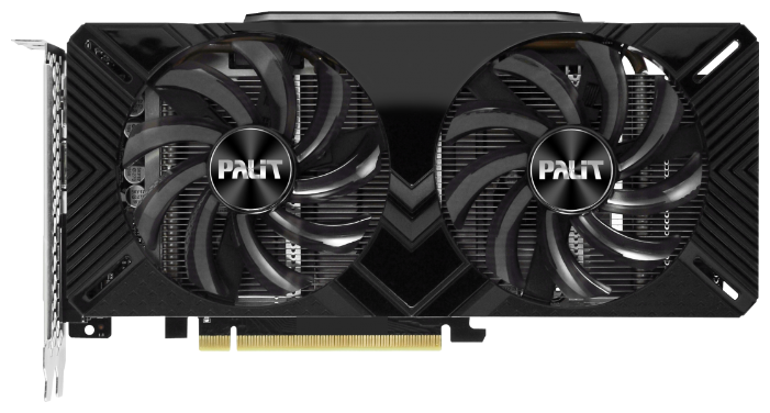 Видеокарта Palit GeForce GTX 1660 1530MHz PCI-E 3.0 6144MB 8000MHz 192 bit DVI HDMI HDCP Dual