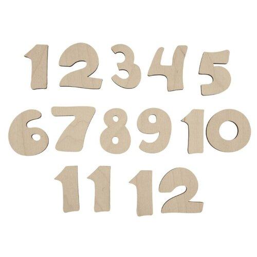 Купить Mr. Carving Набор заготовок для декорирования Декоративные цифры 1-12 ВД-295 бежевый, Декоративные элементы и материалы