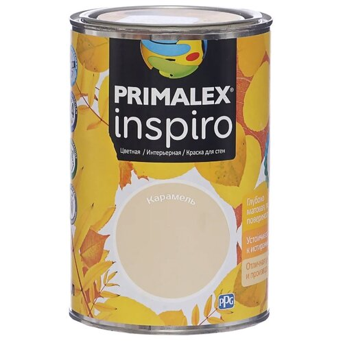 Краска PRIMALEX Inspiro моющаяся матовая карамель 1 л