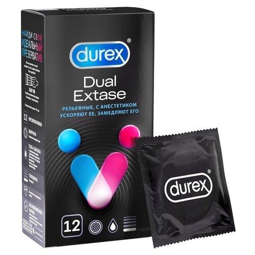 Презервативы Durex Dual Extase (12 шт.) презервативы durex invisible лимитированная серия 6 шт