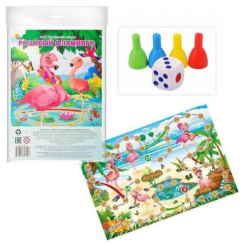 Купить Настольная игра Рыжий кот Мини игры. Розовый фламинго, Настольные игры