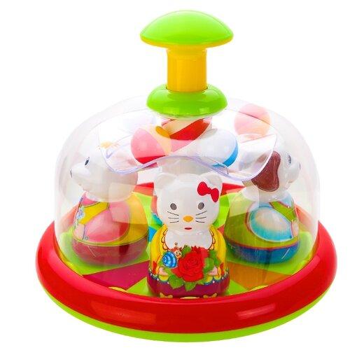 Юла-карусель Stellar Аттракцион, упаковка пакет (01398) зеленый/красный/желтый игрушка chuc юла