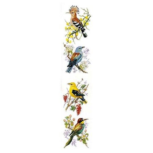 Фото - Набор для вышивания Птицы 4 сюжета, лён 30 ct набор для вышивания анютины глазки лён 30 ct