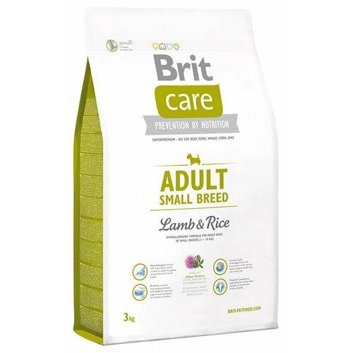 Фото - Сухой корм для собак Brit Care ягненок с рисом 3 кг (для мелких пород) сухой корм для собак brit care ягненок с рисом 18 кг для средних пород