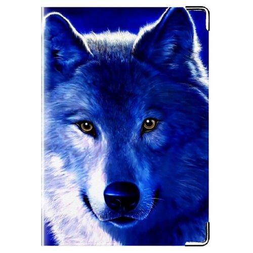 Обложка для паспорта MADAPRINT Волк 100% натуральная овечья кожа