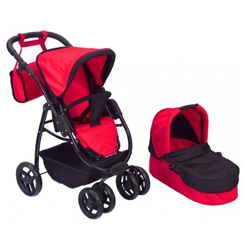 Купить Коляска-трансформер Buggy Boom Amidea (9000) красный/черный, Коляски для кукол