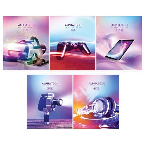 Купить ArtSpace Упаковка тетрадей Увлечения. Neon. Alphatech Т96к_26741, 5 шт./5 дизайнов, клетка, 96 л., Тетради