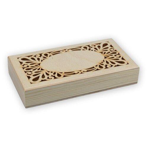 Купить Mr. Carving Заготовка для декорирования Купюрница с резной крышкой ВД-470 бежевый, Декоративные элементы и материалы