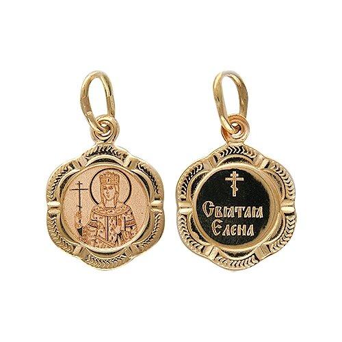 Эстет Подвеска-иконка Святая Елена из красного золота 01П011259 подвеска иконка святая любовь из красного золота